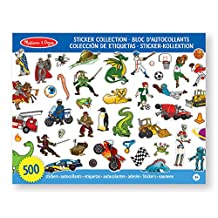 Melissa & Doug Sticker Collection Book: 500+ Stickers - Dinosaurs, Vehicles, Space, and More