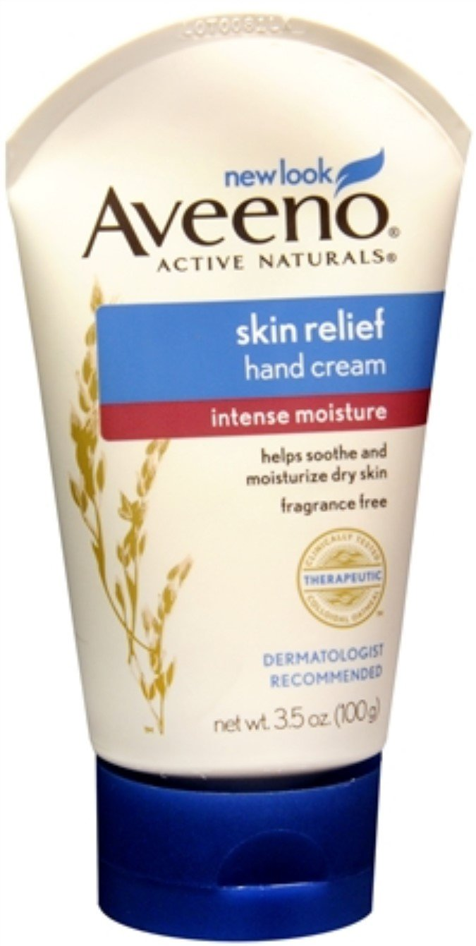 AVEENO Active Naturals Intense Relief Hand Cream 3.50 oz (4 Pack) by Pharmapacks