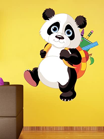 Buy SRG India Student Panda Removable Decor Wall Stickers Decal (75 ...