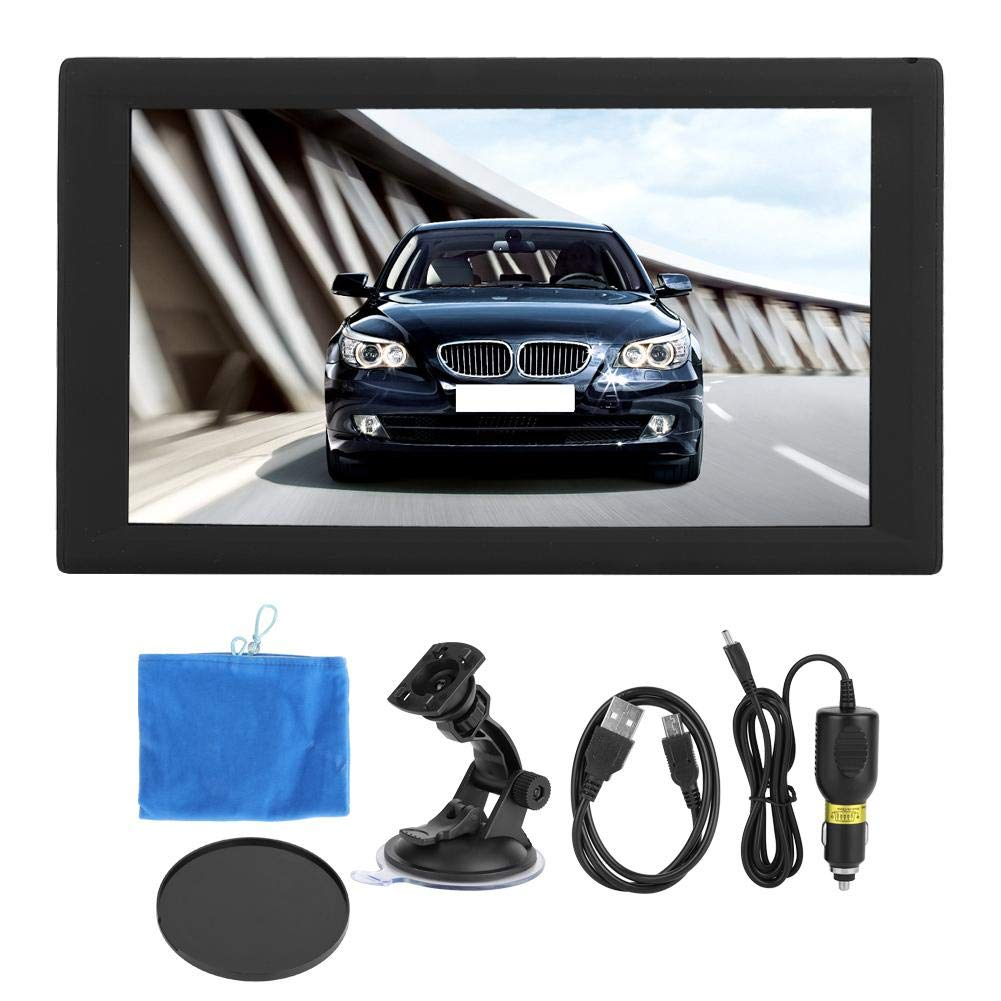 Car Player Receiver, 9inch HD Car Video Player Car GPS Navigation WiFi FM MP3/MP4/MP5 Player Bluetooth Car Stereo Mirror 16G AVIN Night Vision GPS Nav Navigators Fit for Android 4.4.2 by Qii lu