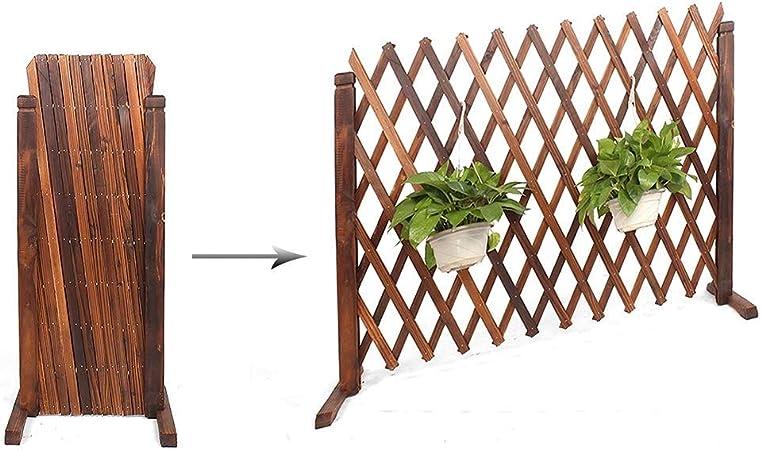 kaige Valla Cerca Perro Reinforced Puerta de Seguridad barandilla Extensible Barrera de jardín de Madera Valla Anchura Estirable es 34-160cm (Tamaño: 90cmx34cm) WKY (Size : 120cmx34cm): Amazon.es: Hogar
