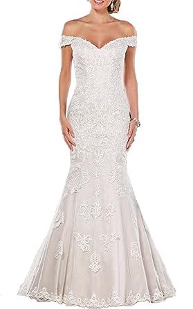 Lily Wedding Women\'s Off Shoulder Long Sleeve Wedding Dress 2018 ...