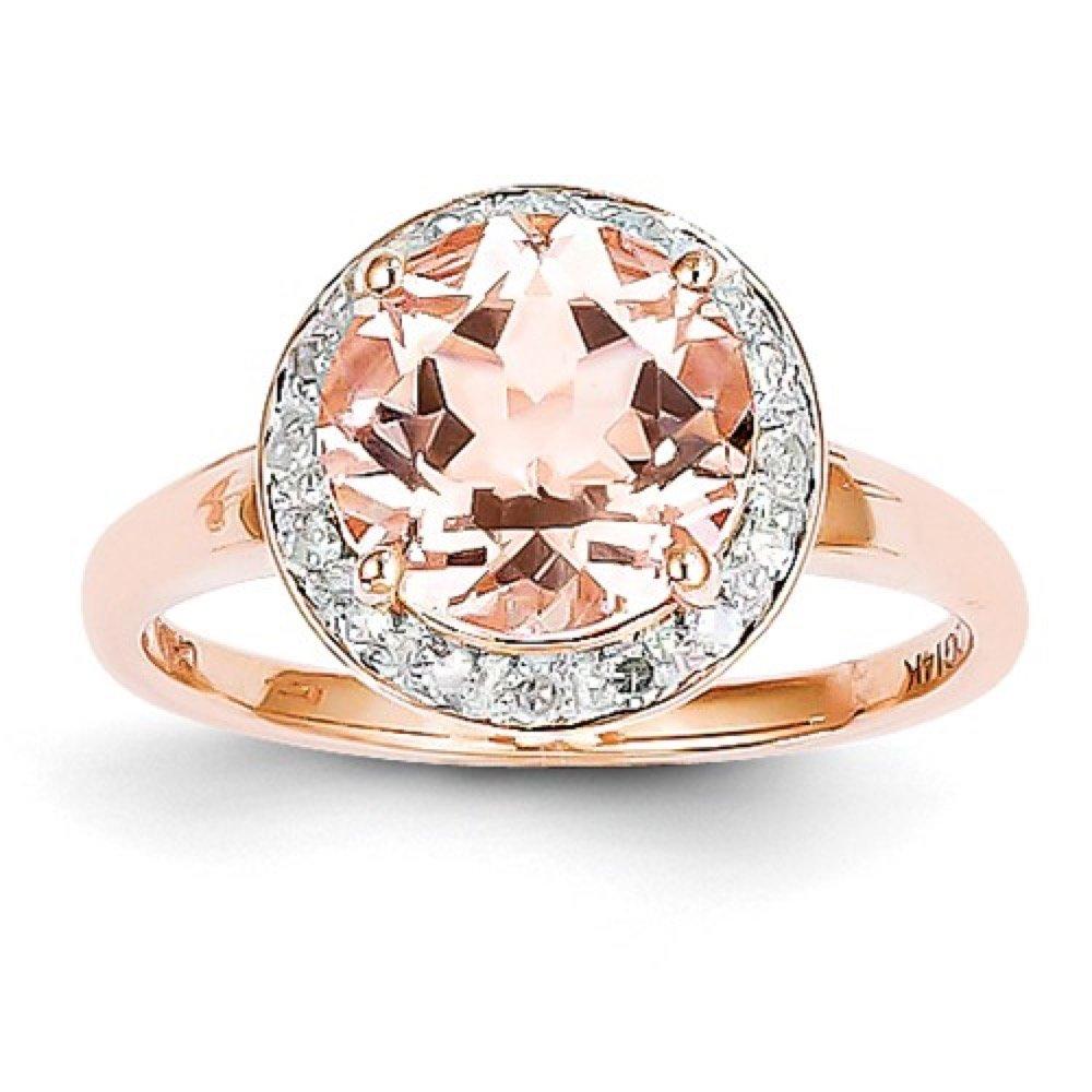 Roxx Fine Jewelry™ Diamond and Morganite Halo Necklace 2.83 Ct. TCW XP4182MG/AA by Roxx Fine Jewelry (Image #7)