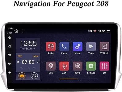 Android 8.1 Radio Coche para Peugeot 208 2014-2018 Navegación GPS Soporte Pantalla táctil de 9 Pulgadas para Reproductor Multimedia de Coche Espejo para WiFi Pantalla Bluetooth: Amazon.es: Electrónica
