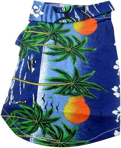Ropa para Disfraces De Mascotas Perro Camisas Hawaianas Ropa ...