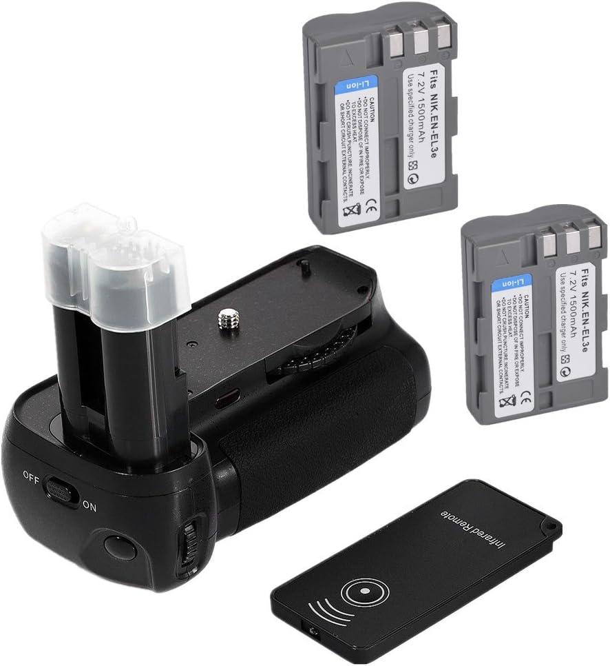 yingge battery grip para Nikon D90 D80 Cámara réflex digital como ...