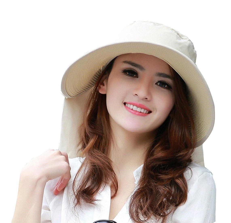 UV Sun hats women summer hats Sun (Beige)  Amazon.ca  Clothing   Accessories f51bdcc7378