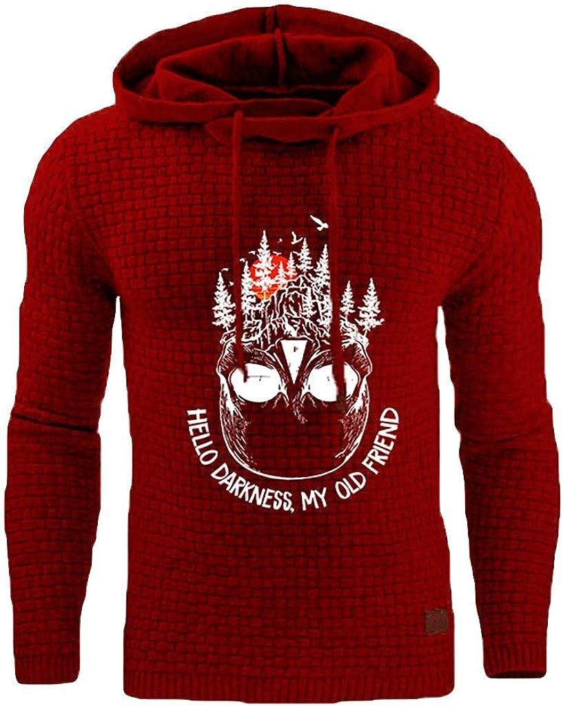 Mens Hooded Plaid Sweater,8 Colors Top S~5XL Print Hooded Long Sleeve Sweatshirt SPE969 Comfort Hoodie