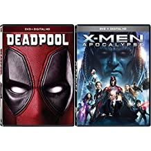 Marvel Cinematic Universe Super Hero Team Up X-Men: Apocalypse (DVD + Digital HD) and Deadpool (DVD + Digital HD) 2-DVD Bundle Double Feature