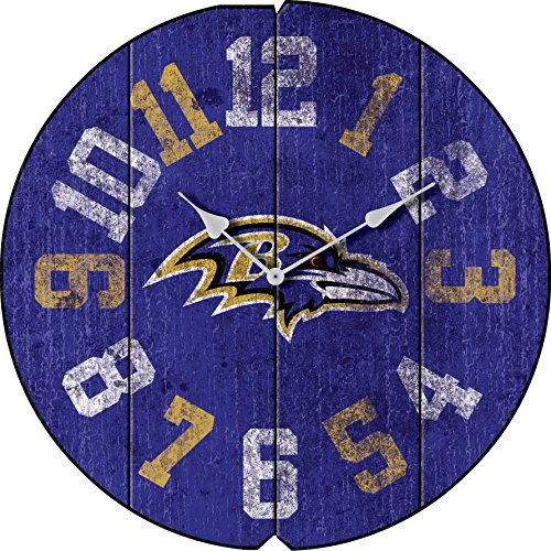 Imperial Officially Licensed NFL Merchandise: Vintage Round Clock, Baltimore Ravens