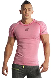 f93e3128127d Jed North Men's Bodybuilding Workout Short Sleeve Tee Slim Fit T Shirt for  Gym