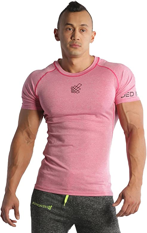 7c8a3d9ab Men's Bodybuilding Workout Short Sleeve Tee Slim Fit T Shirt for Gym. Jed  North ...