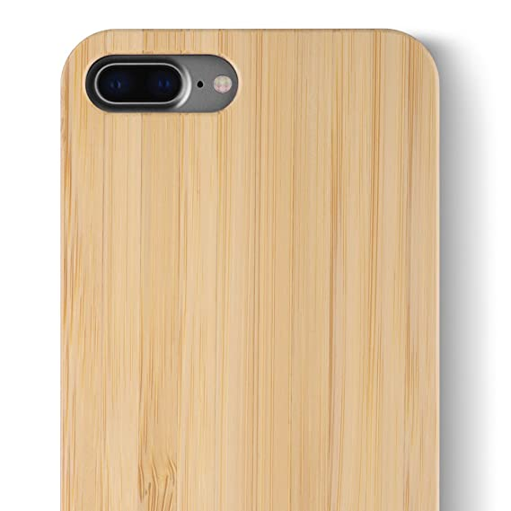 buy popular 5206a 21de0 iCASEIT iPhone 8 Plus Wood Case - Premium Finish Unique Cases - Lightweight  Natural Wooden Hybrid Snap-on Protective Cover for iPhone 7 & 8 Plus - ...