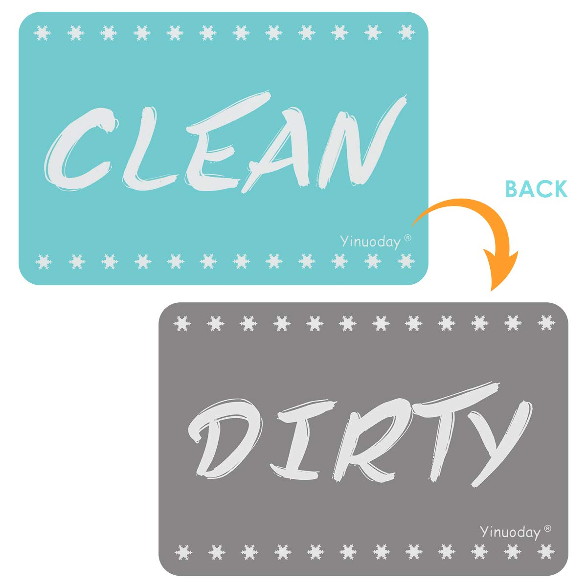 HelloCreate Dirty Clean Sign Dishwasher Magnet Clean Dirty Sign Reversible Double Sided Dish Washer Clean Dirty Indicator