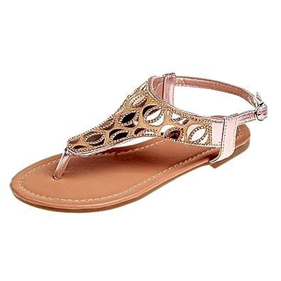 bcd1016a848b39 Inkach Flip-Flops Sandals ❤ Fashion Womens Bohemian Rhinestone Summer Thong  Slippers Beach Flat