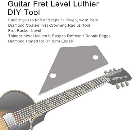 Lovelystar Luthier Luthier - Regla para Guitarra (Acero Inoxidable ...