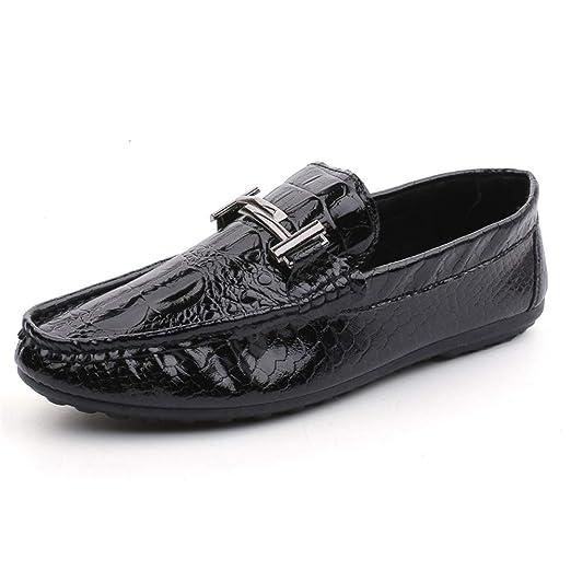 2019 Zapatos para hombre Mocasines Mocasines de cuero ...