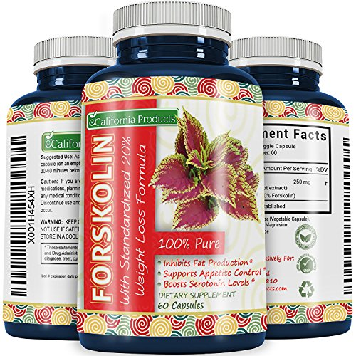 Best Forskolin Weight Loss Supplement for Men and Women Coleus Forskohlii Extract Standardized 20% Forskolin Diet Pills Fat Burner Energy Booster Potent Appetite Suppressant        (Best Weight Loss Reviews)