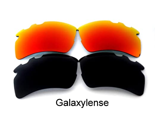 37e1d7d583 Galaxy Replacement Lens For Oakley Flak 2.0 XL Vented Sunglasses Black Red  Polarized