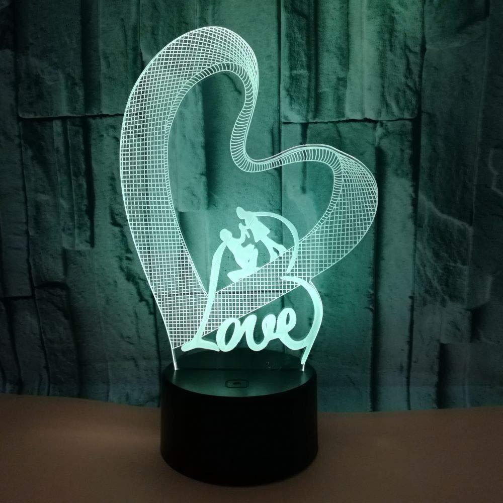 BFMBCHDJ Love Love 3D Led Luz de noche colorida Día de San ...