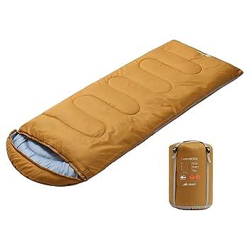 Semoo Saco de Dormir para Camping Ligero, temperaturas de 5-15 ℃, Poliéster