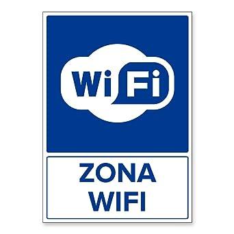 Señal Zona Wifi | Señalética en Material Aluminio Dibond ...