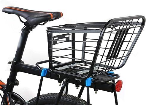 Accesorios para bicicletas Montaje seguro en la bicicleta Portaequipajes, portaequipajes trasero de MTB, en forma de porta mascotas pequeñas Cesta universal de metal para bicicleta delantera: Amazon.es: Deportes y aire libre