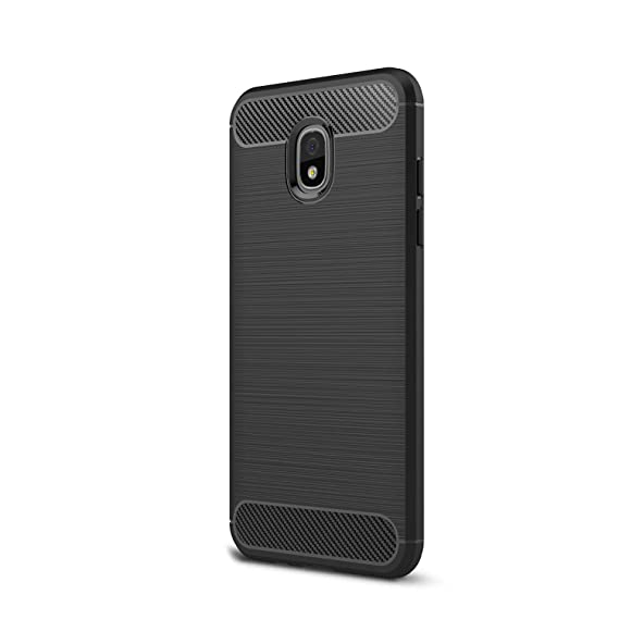 For Galaxy J730 J7Pro (2017) Case, Ultra-thin Brushed Carbon Fiber Slim