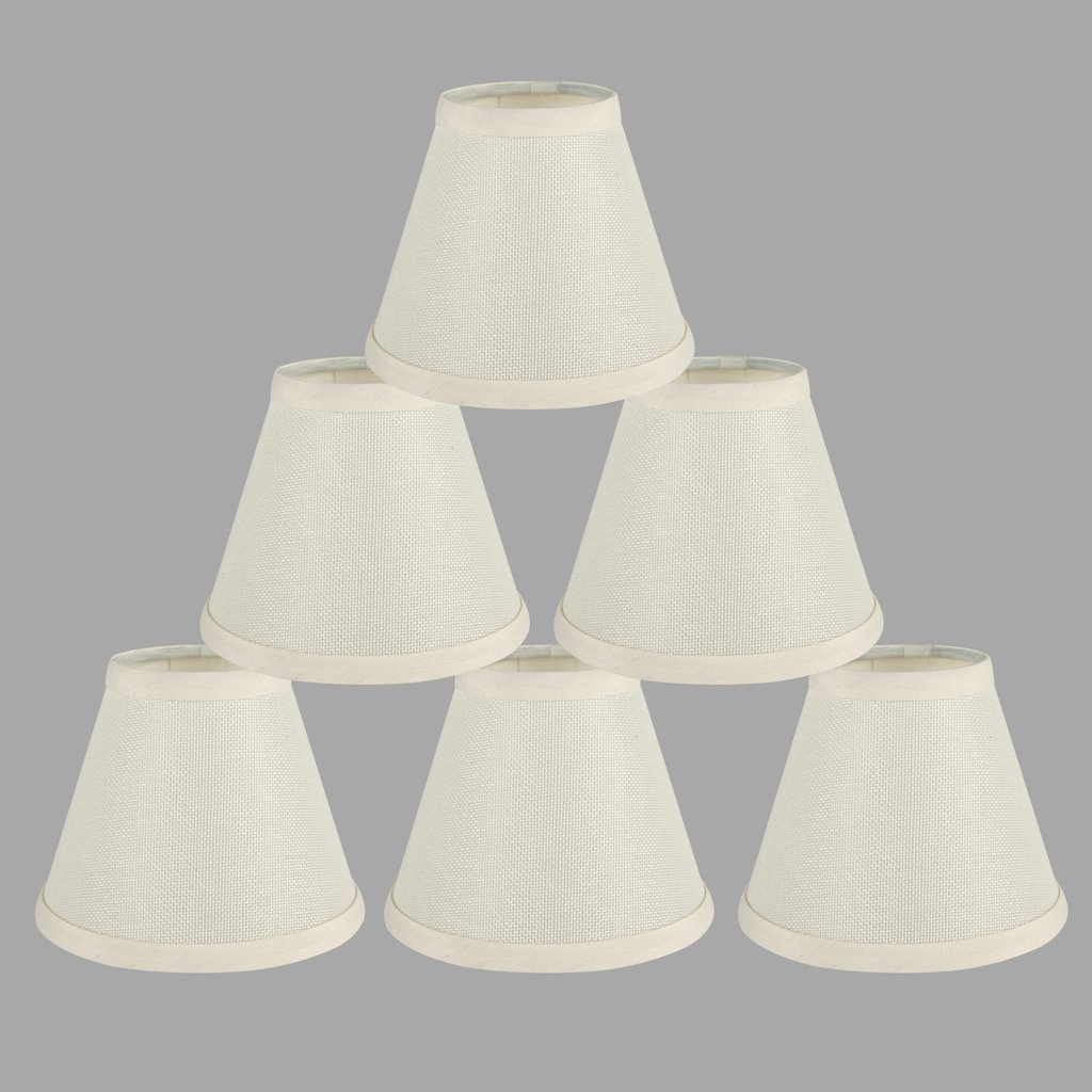 ONEPRE Cream Clip on Lamp Shades light shades Off White Candle ...