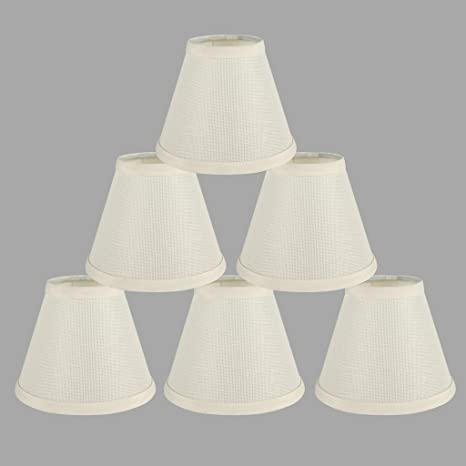Onepre Cream Clip On Lamp Shades Light Shades Off White Candle