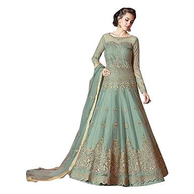 Anarkali Vestido para Mujeres Indio Bollywood Anarkali Salwar ...