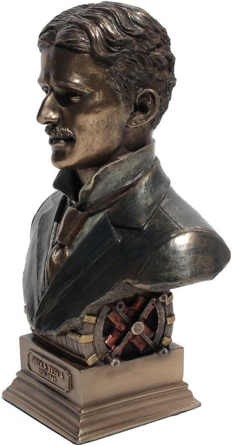 Nikola Tesla Bust Statue Cold Cast Bronze 7 1//2 Inch Tall