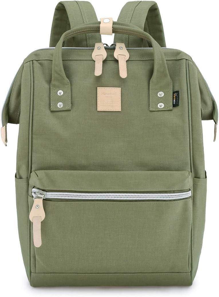 "Himawari Travel Backpack Large Diaper Bag School multi-function Backpack for Women&Men | 17.7""x7.9""x11.8"" (Olive green&plus)"