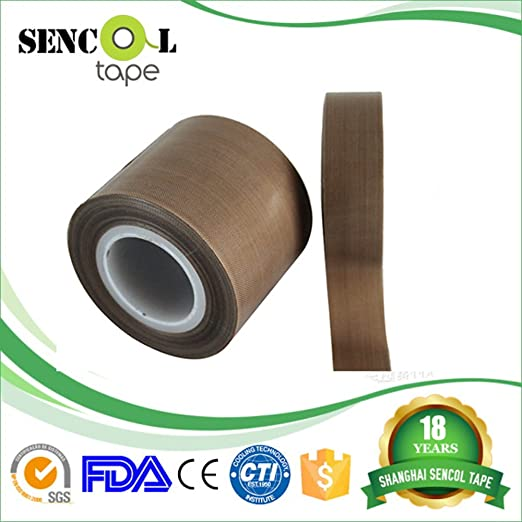 Con revestimiento de PTFE fibra de vidrio Telfon cinta, cinta adhesiva, cinta de alta temperatura, secado mecánico cinta transportadora sellado de soldadura ...