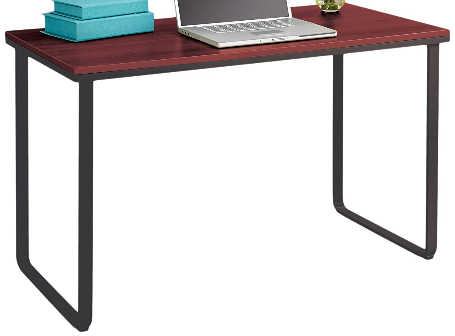 Black Table Desk Part - 35: Amazon.com: Safco Products 1943CYBL Simple Design Table Desk With Sled  Base, Cherry/Black: Kitchen U0026 Dining