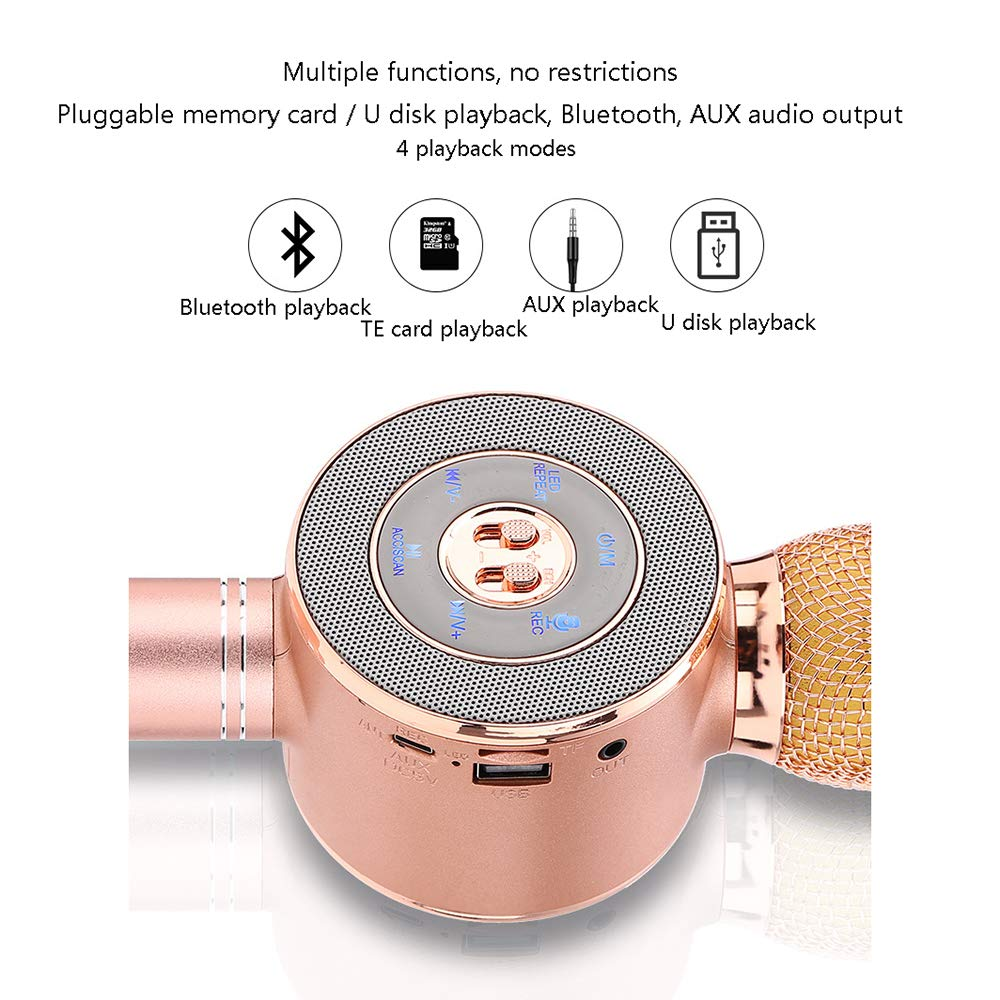 electronic product Bluetooth Wireless Microphone Portable Karaoke Player Speaker Multiple Mode Switching Suitable for iOS Android WP Smartphone ZDDAB