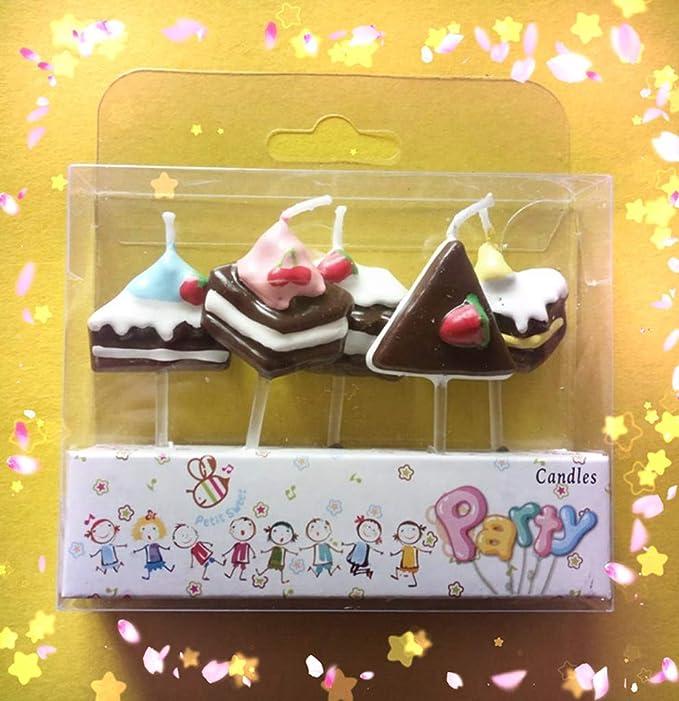 ZJ-Cake Decoration Vela de cumpleaños Creativo Romántico ...
