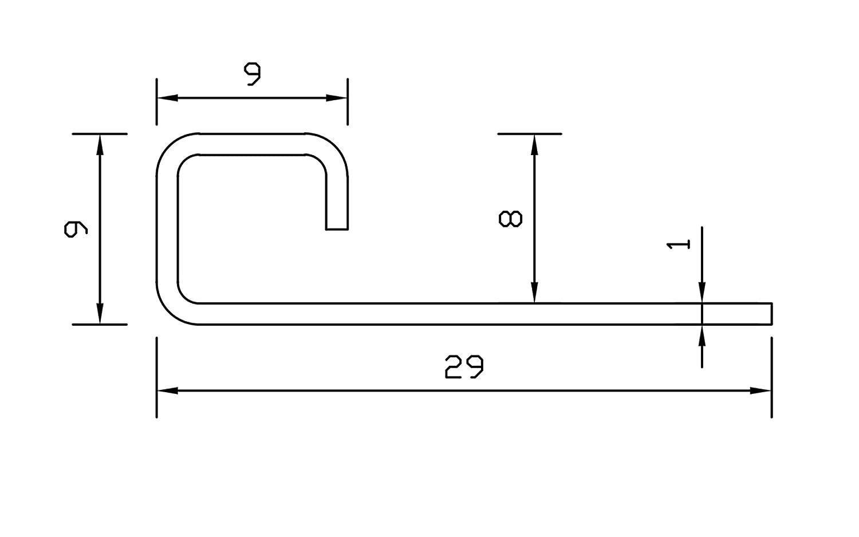 Vollmaterial H: 8mm Quadratprofil Edelstahl V2A Gl/änzend PREMIUM FUCHS Ecke kein Abbl/ättern m/öglich