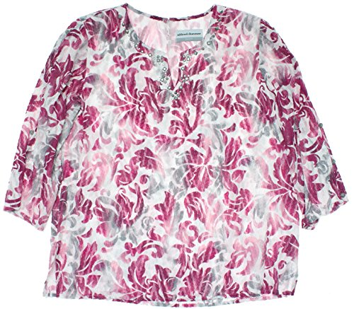 Alfred Dunner Veneto Valley Scroll Tunic Blouse Multi 16W