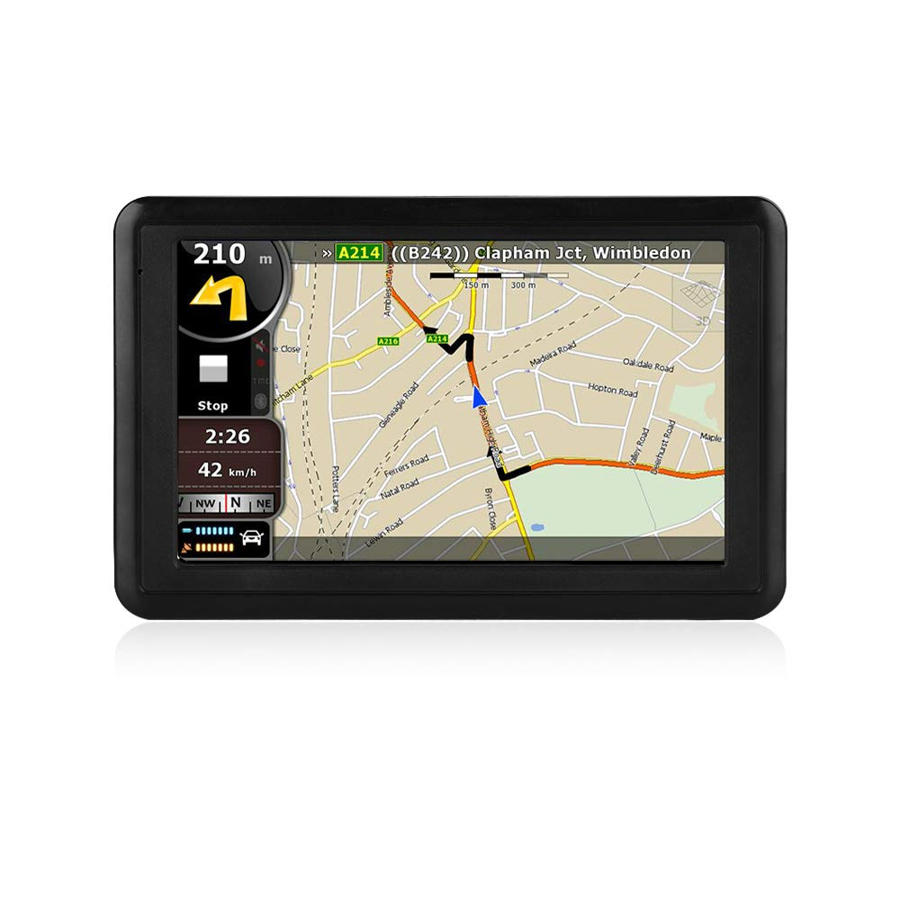 NETVIP GPS Navigation for Car 5 inch HD Touch Screen, Vehicle GPS Navigator Voice Traffic Warning Speed Limit Reminder, GPS Navigation System with 4+16GB Large Storage, Lifetime Maps Update for Free by NETVIP