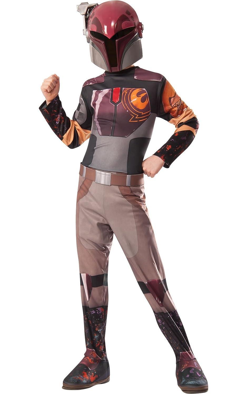 Amazon.com: Rubies Star Wars Rebels Sabine Costume, Child Medium ...
