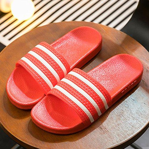 rosso bagno uomini pantofole estate indoor un 43 antiscivolo donne fankou pantofole pantofole gli per cool per coppie di Pantofole home in spessore bagno home 42 wZRFxUPq