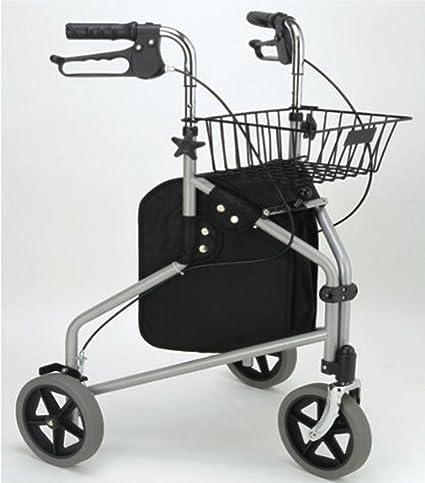 Scala Andador LR10 Andador plegable de viaje con 3 ruedas, cesta ...
