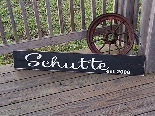 ed0593c08dbc6 Amazon.com: Family Name Sign - Last Name Sign - Long Wooden Sign ...