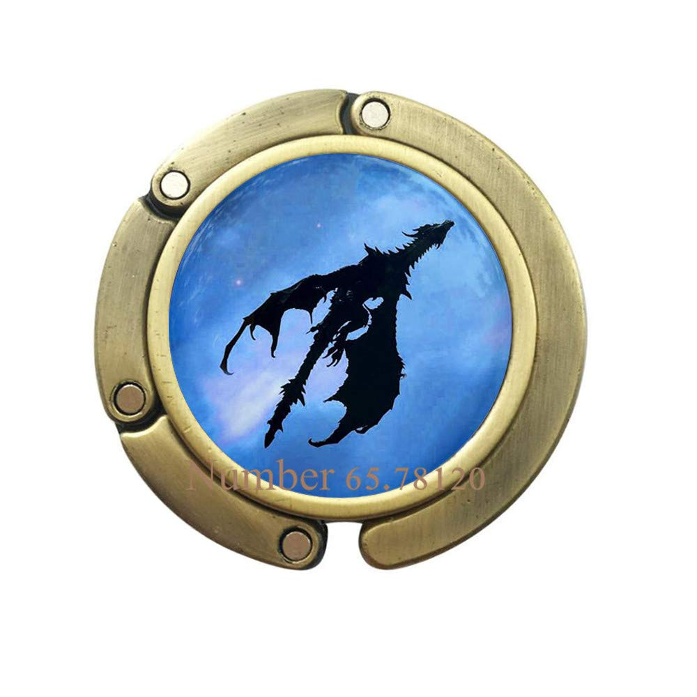 Black Dragon Purse Hook//Flying Dragon Purse Hook//Blue Sky//Jewelry Bag Hook//Dragon Bag Hook//Dragon in The Sky Purse Hook,BV155 V2