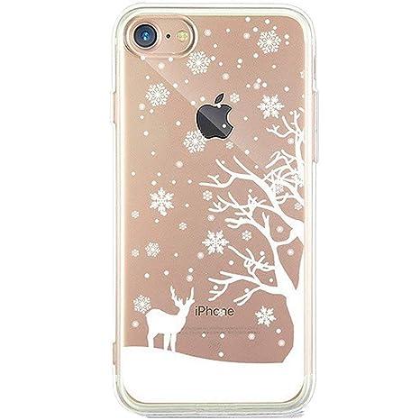 Immagini Di Natale Per Iphone 5.Surakey Iphone 5 5s Se Cover Silicone Morbido Custodia Trasparente