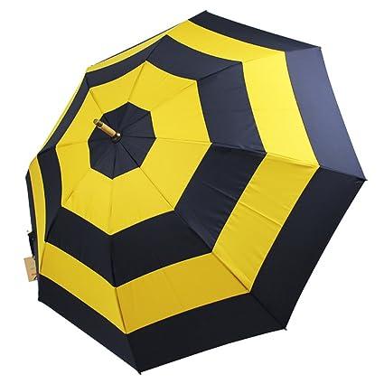 Creativo retro de bambú de la rota paraguas de madera de mango largo Dualbrella palo paraguas