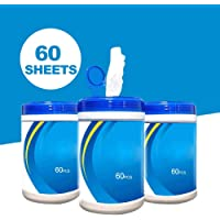 60 hojas/paquete Toallitas húmedas de limpieza para manos