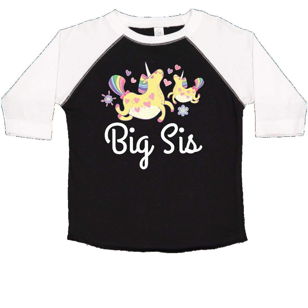 inktastic Big Sis Unicorn Girls Sister Announcement Toddler T-Shirt