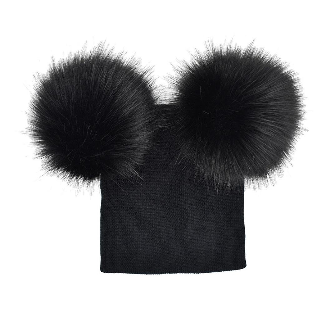345366dd378 Xshuai Baby Hat for 6 Months-5 Years Old Kids Fashion Cute Newborn Toddler  Baby Boys Girls Crochet Knit Hats Soft Cap Winter Warm Double Plush Ball Hat  ...